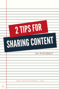 2 Reasons WHY you should be sharing content on Pinterest that isn't yours.  How it helps you, and a tip to grow your profile.