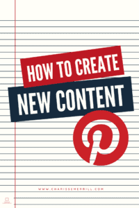 Entrepreners, you want to be sure you are consistently adding NEW valuable content to the platform. Read how to easily create new content for Pinterest