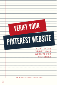 In 5 min or less I'm going to show you how to clain your website on Pinterest.  What used to take days, will only take 5 min with these tips.