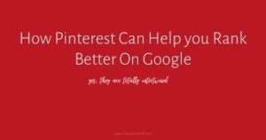 Learn how being great on Pinterest can help you rank higher on google and bring in amazing organic traffic multiple ways!