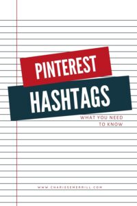Hashtags are so big on Instagram and other social media platforms, but are they good for Pinterest?  If so, how do you use hashtags on Pinter