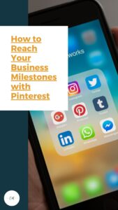 Photo with text:  How to reach your business milestones with Pinterest